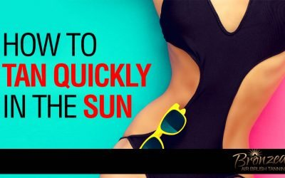 how to tan fast outside in the sun